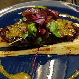Gite de bœuf à la moutarde ancienne et curry