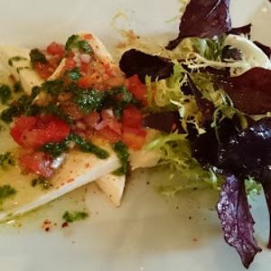 Saumon et salade du moment